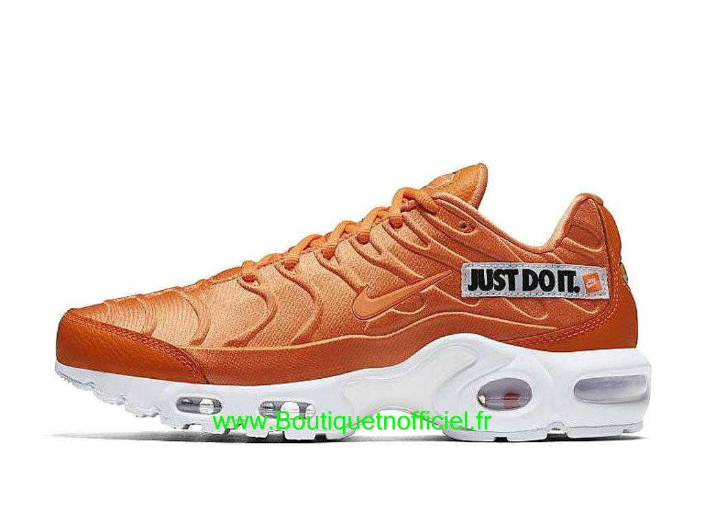 Nike Air Max Plus Just Do It Chaussures Nike 2019 Pas Cher Pour Homme Orange Blanc 862201-800