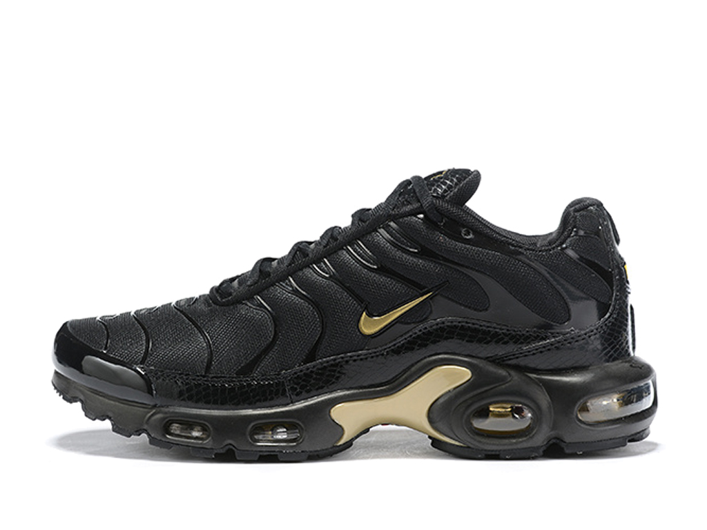 Nike Air Max Plus/Tn Requin 2019 Pas Cher Chaussures Basketball Pour Homme Noir Or