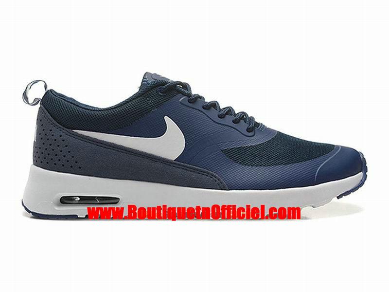 official photos ac99e b7dfb Nike Air Max Thea Chaussure Nike Sportswear Pas Cher Pour Homme BlancBleu  599409- ...