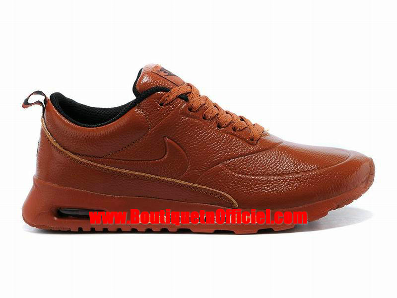 Nike Air Max Thea Leather Chaussure Nike Sportswear Pas Cher Pour Homme Brun/Noir 616723-060