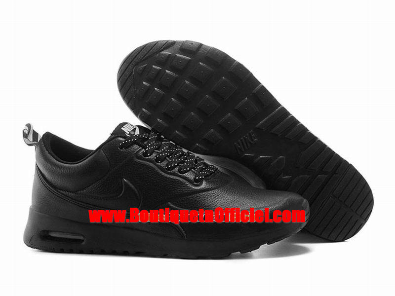 Nike Air Max Thea Leather Chaussure Nike Sportswear Pas Cher Pour Homme Noir 616723-608