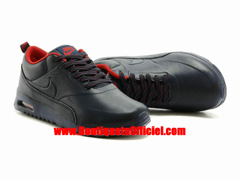 ... Nike Air Max Thea Leather Men´s NIke Sportswear Shoes Black/Red 616723-  ...