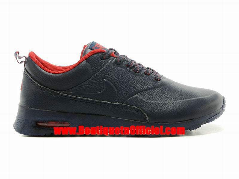 Nike Air Max Thea Leather Chaussure Nike Sportswear Pas Cher Pour Homme Noir/Rouge 616723-609
