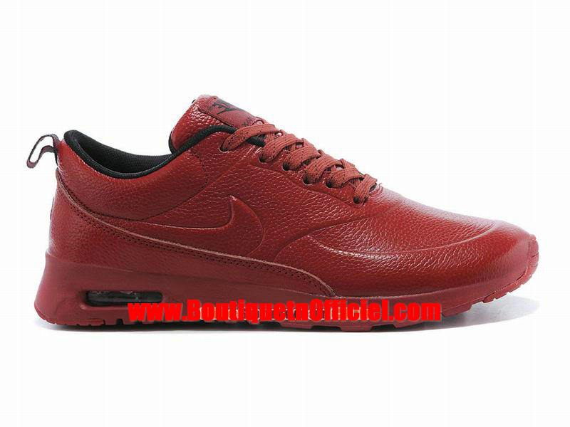 Nike Air Max Thea Leather Chaussure Nike Sportswear Pas Cher Pour Homme Rouge/Noir 616723-059