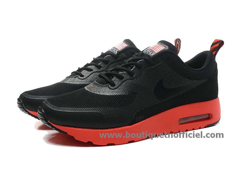 Nike Air Max Thea Print USA Chaussure Pour Homme Noir/Rouge 599409-019