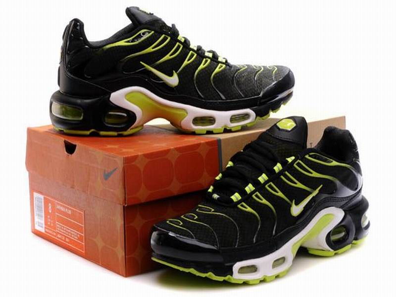 Nike Air Max Tn Requin 2013 - Chaussures Nike Baskets Pour Homme Noir/Vert Nike Tuned 1