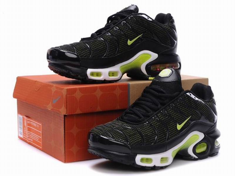 Nike Air Max Tn Requin 2013 Chaussures Officiel Nike Pour Homme Noir/Vert Nike Tuned