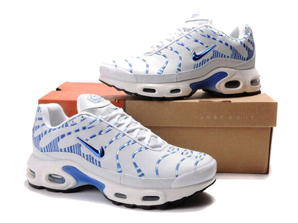 Nike Air Max Tn Requin/Nike Tuned 1 Chaussures Officiel Nike Pour Homme Blanc/Bleu