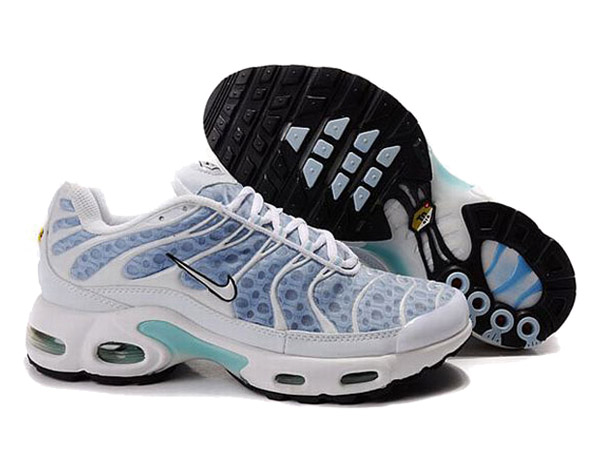 Nike Air Max Tn Requin/Nike Tuned 1 Chaussures Tn Pas Cher Pour Homme Blanc/Bleu
