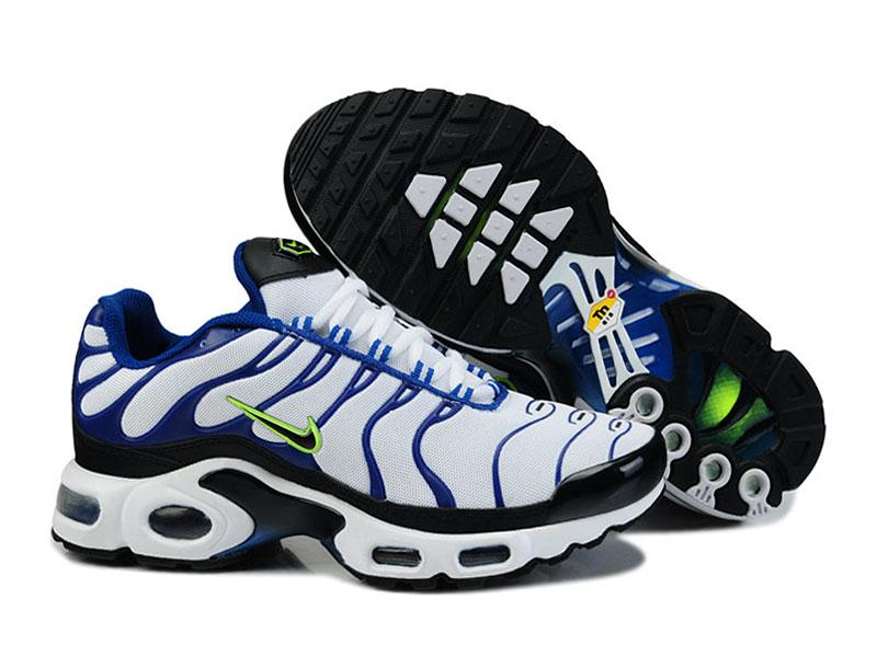 7b724359c1e Accueil → Air Max Nike Tn Requin 2014 → Nike Air Max Tn Requin Nike Tuned  2014 - Chaussures de Basket-Ball Pour Homme Blanc Noir Bleu