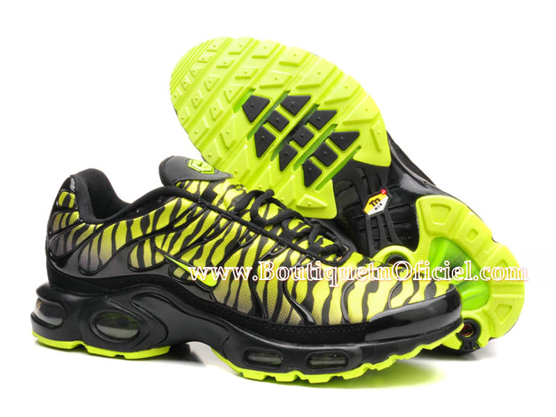 Nike Air Max Tn/Tuned Requin 2015 - Chaussures Nike Baskets Pas Cher Pour Homme Noir/Vert