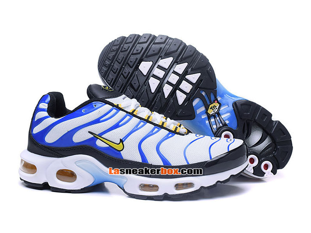 Nike Air Max Tn/Tuned Requin 2017 Chaussures Officiel Nike Pas Cher Pour Homme Blanc Bleu 604133-694