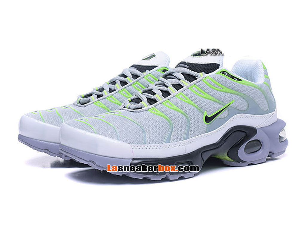Nike Air Max Tn/Tuned Requin 2017 Chaussures Officiel Nike Pas Cher Pour Homme Gris Vert 604133-693