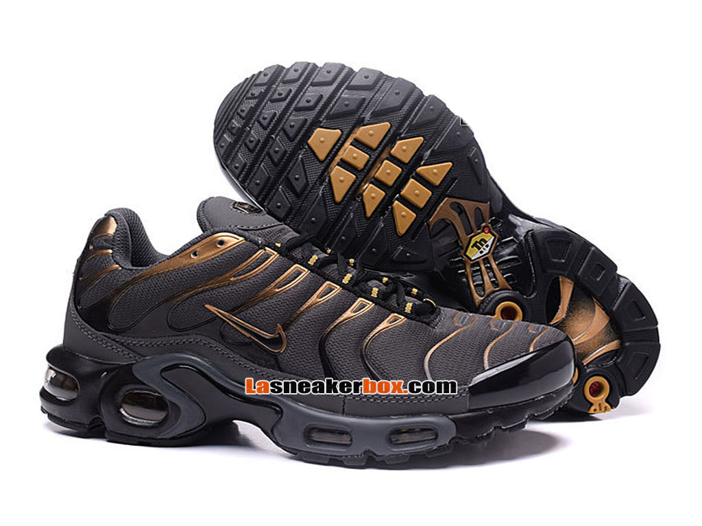 Nike Air Max Tn/Tuned Requin 2017 Chaussures Officiel Nike Pas Cher Pour Homme Noir Or 604133-675