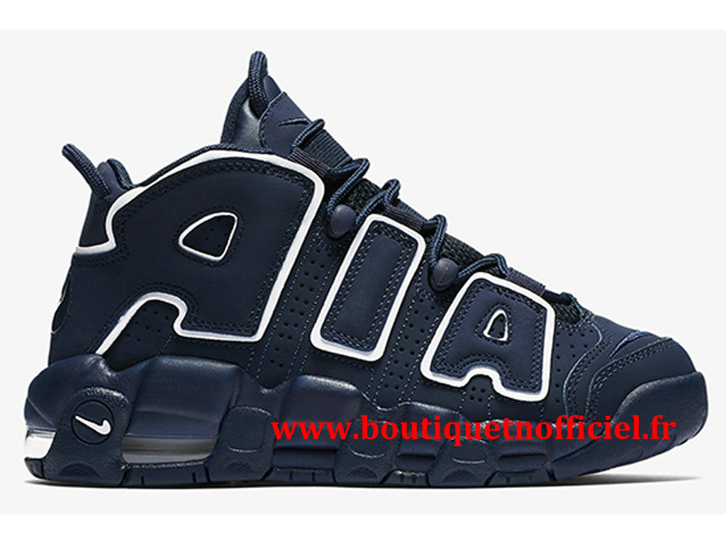 Nike Air More Uptempo Chaussures BasketBall Pas Cher Pour Homme Bleu Blanc 415082-401