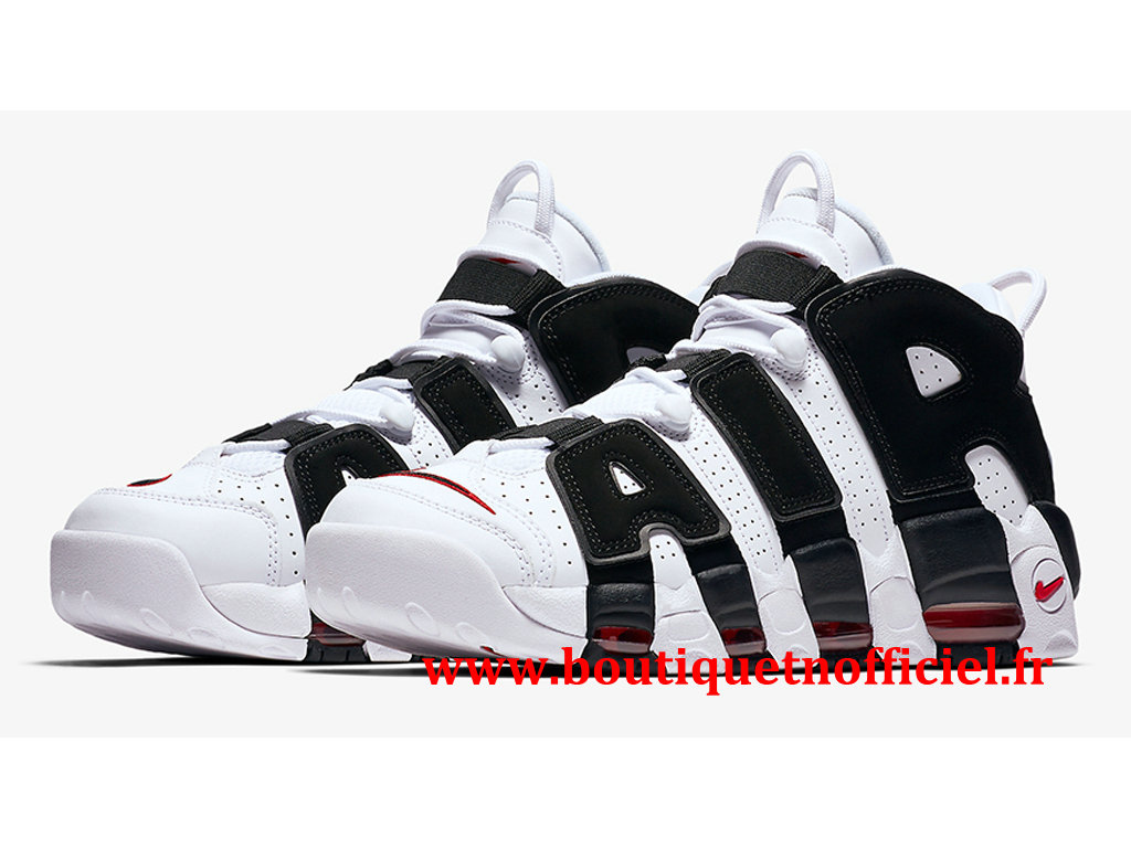 Nike Air More Uptempo Chaussures BasketBall Pas Cher Pour Homme Noir Blanc 414962-105