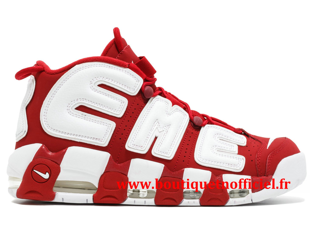 Nike Air More Uptempo Chaussures BasketBall Pas Cher Pour Homme Rouge Blanc 902290-600