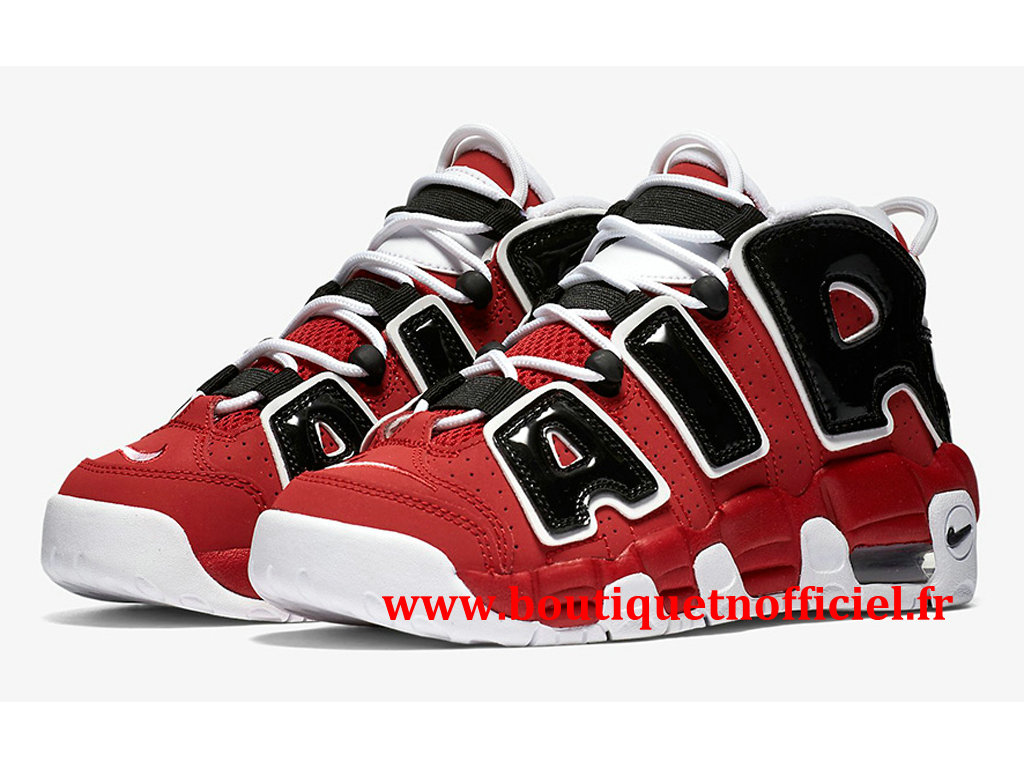 Nike Air More Uptempo Chaussures BasketBall Pas Cher Pour Homme Rouge Noir 415082-600