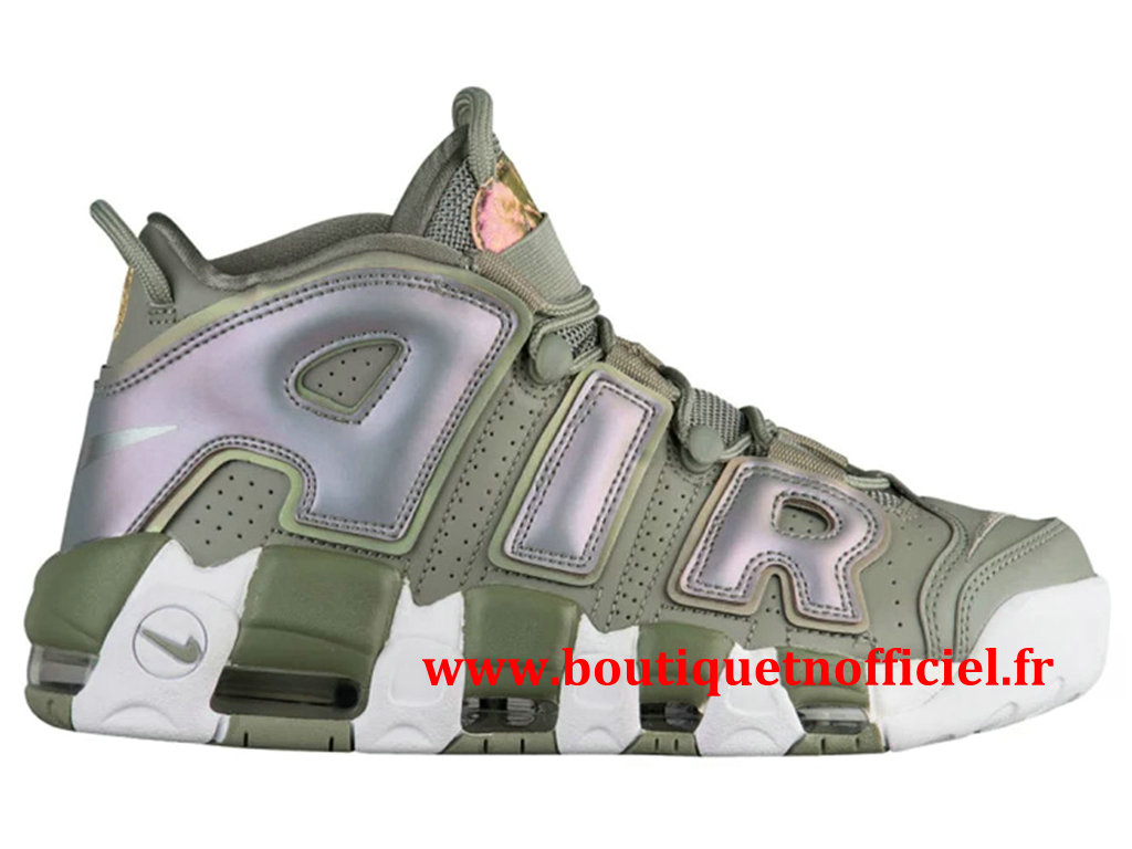 Nike Air More Uptempo Chaussures BasketBall Pas Cher Pour Homme Vert Blanc 917593-001