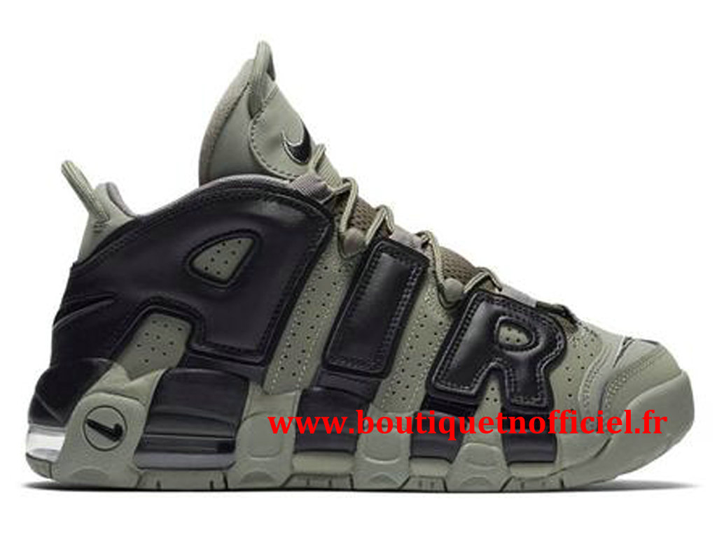Nike Air More Uptempo Chaussures BasketBall Pas Cher Pour Homme Vert Noir 415082-007
