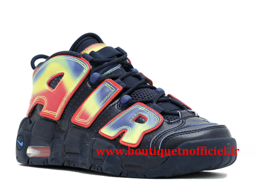 Nike Air More Uptempo QS Chaussures BasketBall Pas Cher Pour Homme Rose Noir 847652-400
