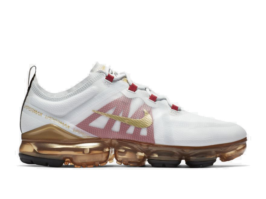 Nike Air Vapormax 2019 Chaussures de Running Pas Cher Pour Homme Blanc Or BQ7038-001