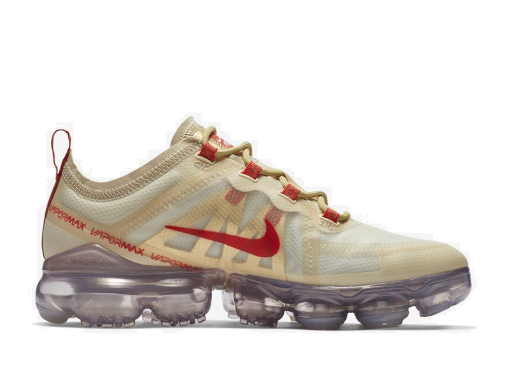 Nike Air Vapormax 2019 Chaussures de Running Pas Cher Pour Homme Or Rouge BQ7041-200