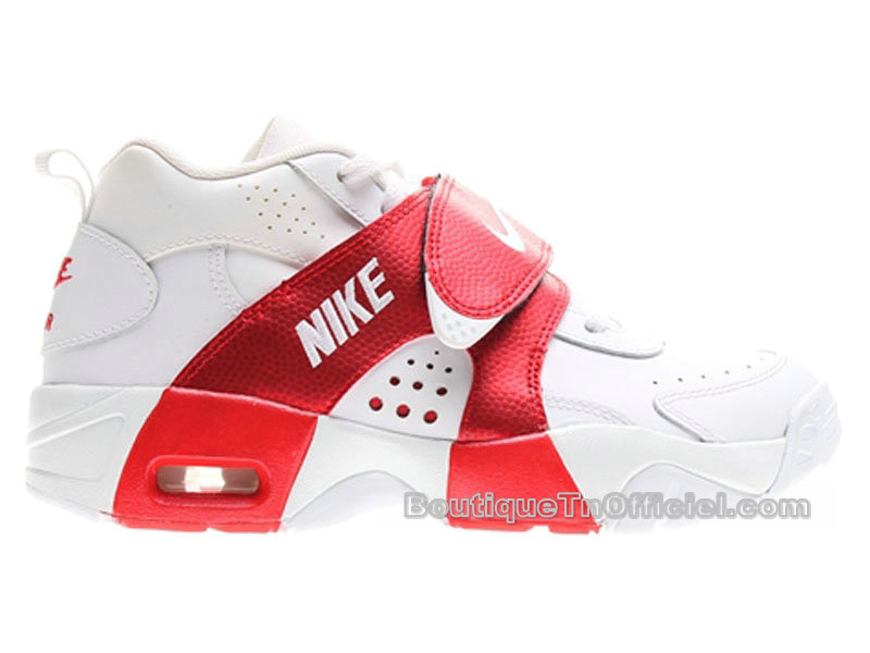 Nike Air Veer GS - Chaussures Nike LifeStyle Pas Cher Pour Femme Blanc/University Rouge 599213-100