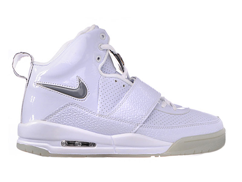 Nike Air Yeezy - Kanye West Sz Chaussures de Basket-Ball Pas Cher Pour Homme Blanc