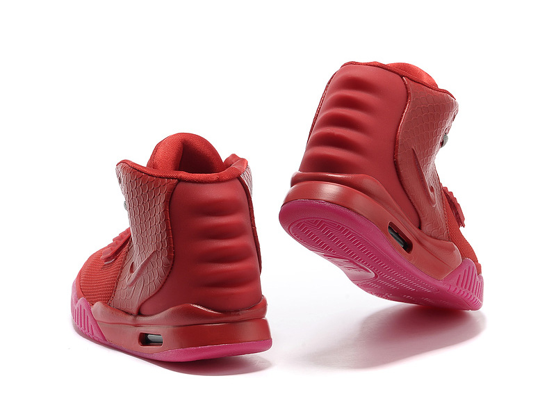 Nike Air Yeezy 2 II - Chaussures de Basket-Ball Pas Cher Pour Homme Rouge