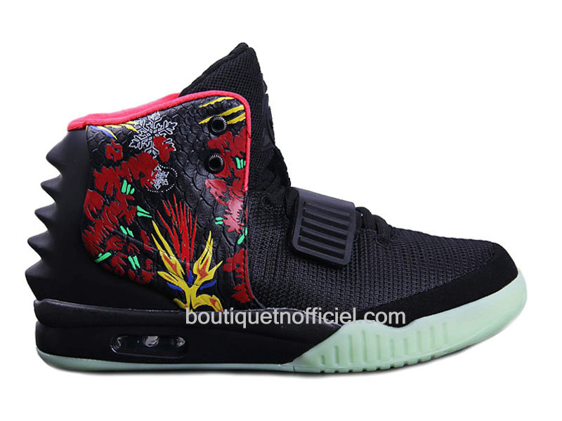 Nike Air Yeezy 2/II ´Givenchy´ Customs by Mache - Chaussures Pour Homme Noir/Pink