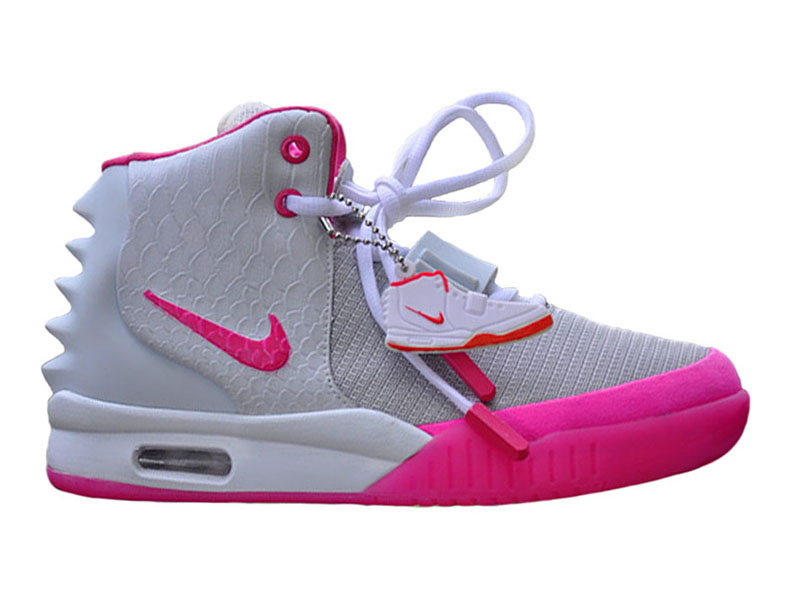 Nike Air Yeezy 2/II GS (Kanye West) Chaussures de Basket-Ball Pas Cher Pour Femme Blanc/Pink