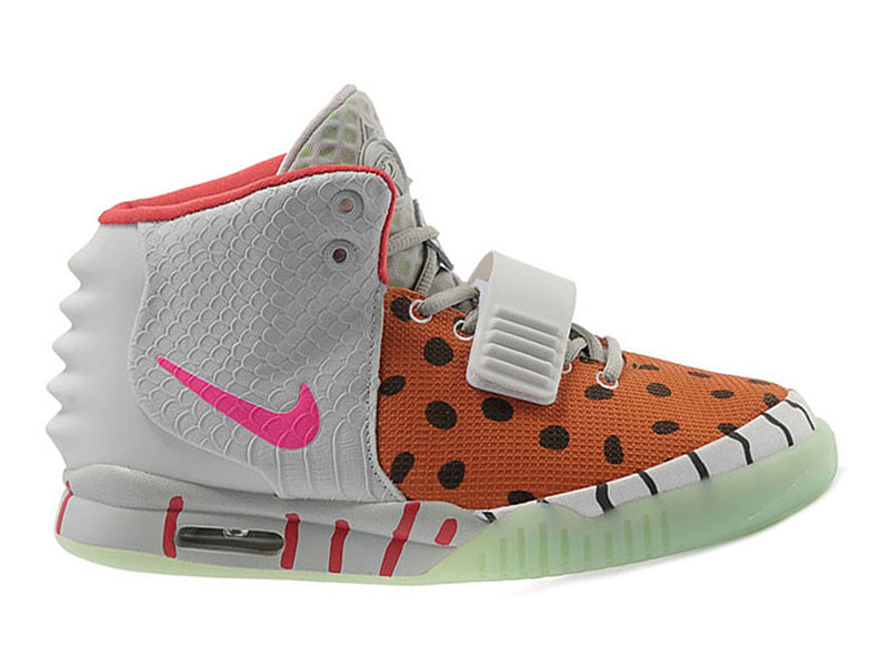 Nike Air Yeezy 2/II GS (Kanye West) Chaussures de Basket-Ball Pas Cher Pour Femme Brun/Gris/Pink