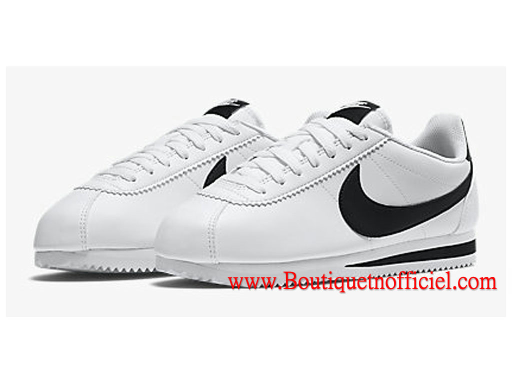 official photos fe0e6 9e95c ... Nike Classic Cortez Leather GS Women´s Shoes White Black ...