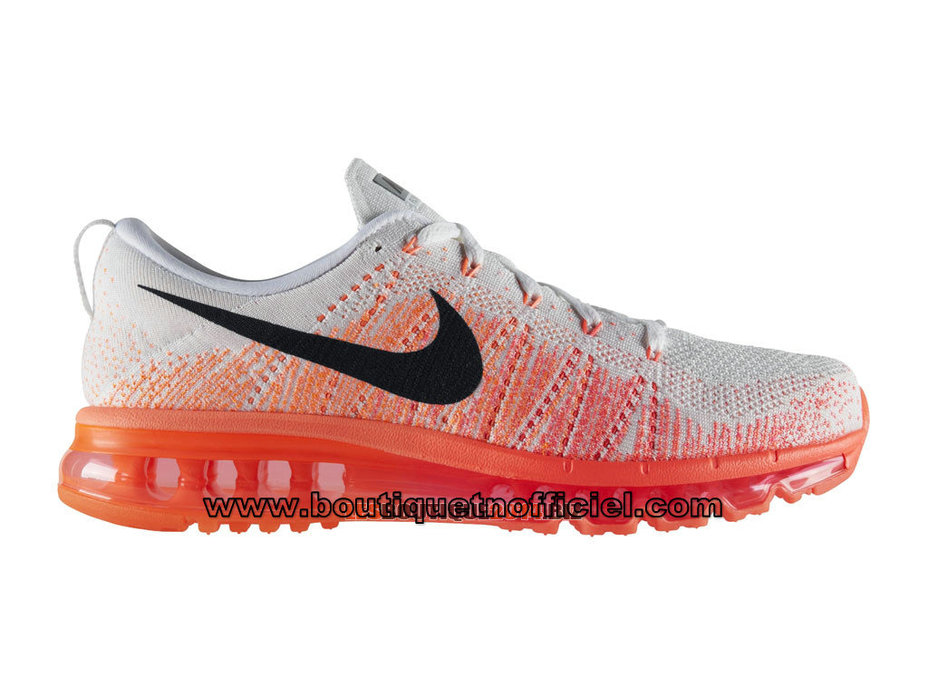 Nike Flyknit Air Max - Chaussures de Running Pas Cher Pour Homme Blanc/Rouge