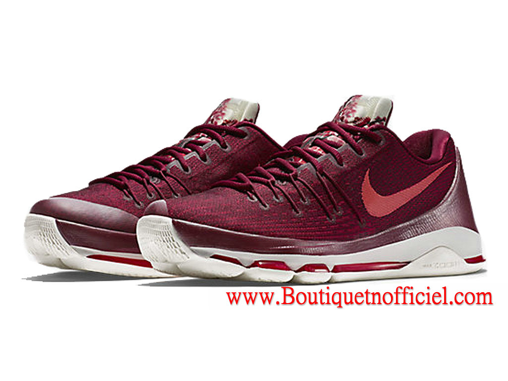 Nike KD 8/VIII Chaussures de Basketball Pas Cher Pour Homme Rouge/Blanc 800259_661