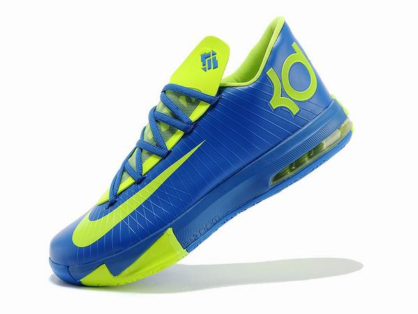 Nike KD VI Total Orange Chaussures Basketball Pour Homme Blue Green
