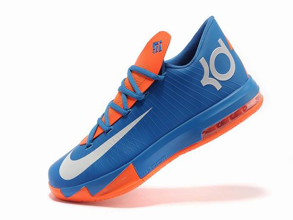 Nike KD VI Total Orange Chaussures Basketball Pour Homme blue Orange