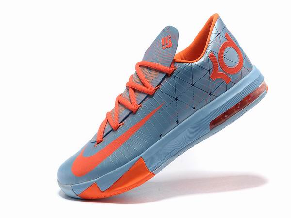 Nike KD VI Total Orange Chaussures Basketball Pour Homme Ice Blue Orange