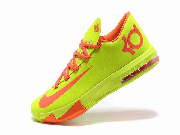 Nike KD VI Total Orange Chaussures Basketball Pour Homme jaune Rose