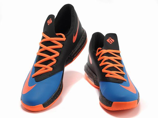 Nike KD VI Total Orange Chaussures Basketball Pour Homme Orange Blue