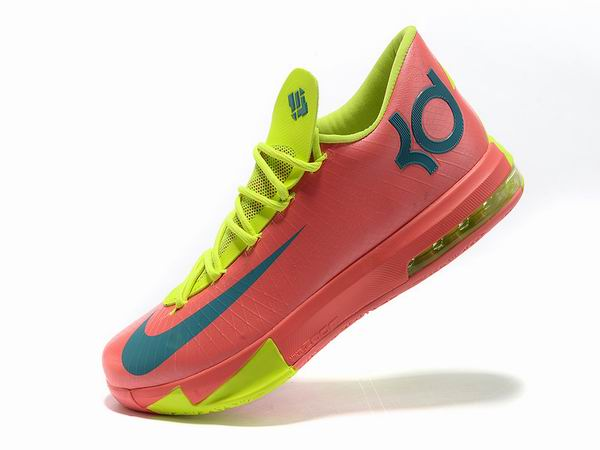Nike KD VI Total Orange Chaussures Basketball Pour Homme orange Vert