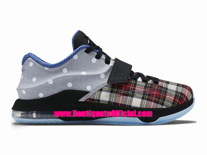 Nike KD VII/7 EXT Plaid QS - Chaussures Nike Baskets Pas Cher Pour Homme Rouge 726439-600
