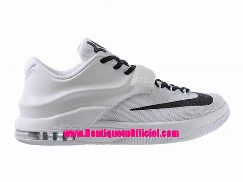 Nike KD VII/7 iD - Chaussures Nike Baskets Pas Cher Pour Homme Blanc/Noir