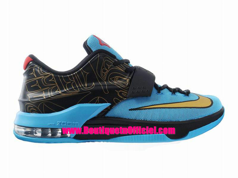 Nike KD VII/7 iD - Chaussures Nike Baskets Pas Cher Pour Homme Bleu/Noir-Or