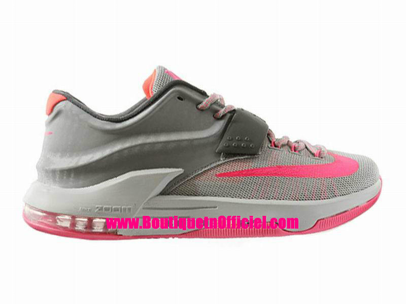 Nike KD VII/7 iD - Chaussures Nike Baskets Pas Cher Pour Homme Light Gris/Dark Gris-Pink