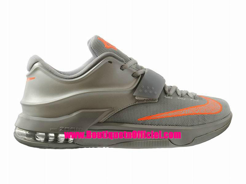 Nike KD VII/7 iD - Chaussures Nike Baskets Pas Cher Pour Homme Metallic Argent/Gris-Orange