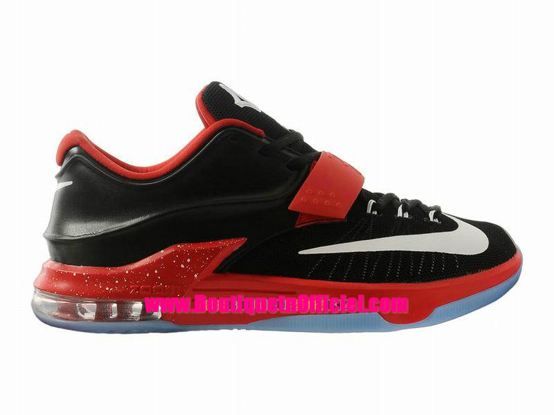 Nike KD VII/7 iD - Chaussures Nike Baskets Pas Cher Pour Homme Noir/Gym Rouge-Blanc