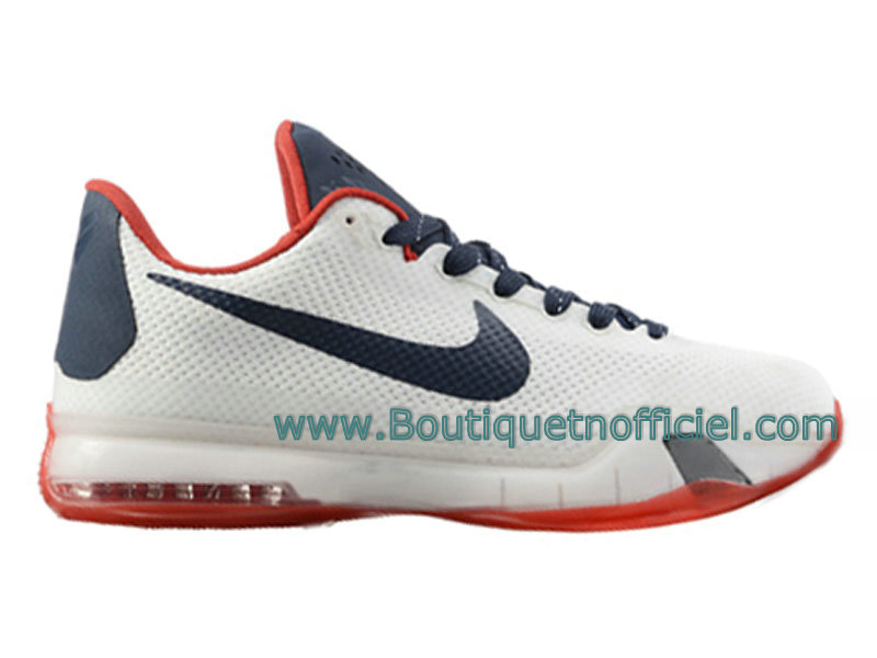 Nike Kobe 10 EM XDR Chaussures de Basketball Pour Homme Blanc Rouge 705317-ID2