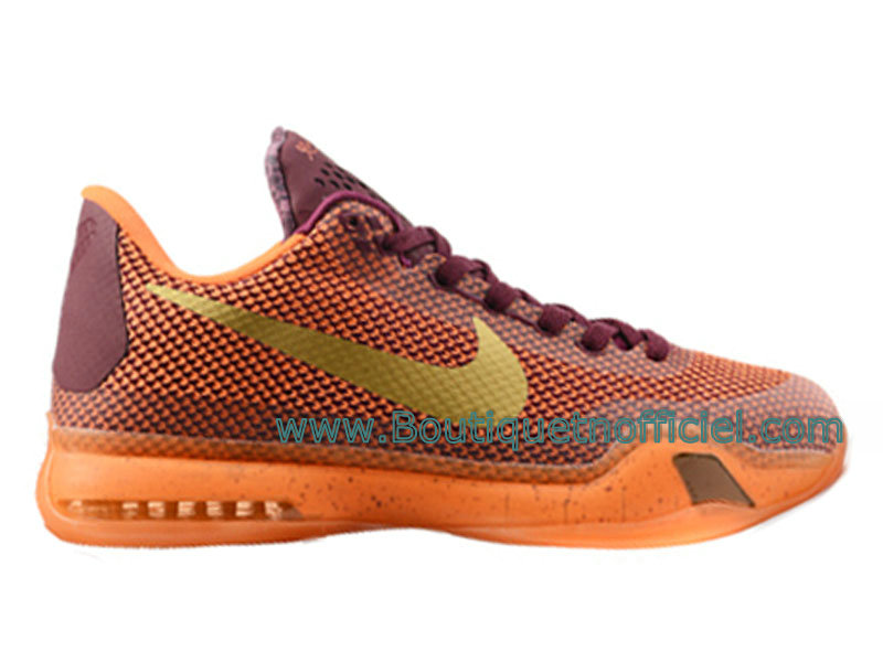 Nike Kobe 10 EM XDR Chaussures de Basketball Pour Homme Orange 705317-ID4